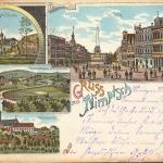 Pocztówka z 1899 r. z drogą do Wojsławic