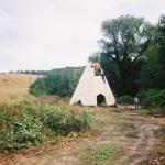 Budowa paleniska WIGWAMU - kwiecień 1993 r., HGN