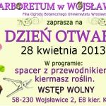 Plakat Dzień otwarty w Wojsławicach 2013