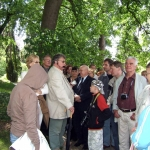Wiosenny spacer z dy. Ogrodu Botanicznego, prof. Tomaszem Nowakiem - Wojsławice  2004, DK.