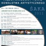 ŚAKA - Śląska Akademia Kowalstwa Artystycznego - Wojsławice, 2011- plakat