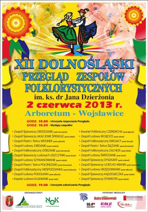 XII Dolnośląski Przegląd Zespołów Folklorystycznych 2013 r.