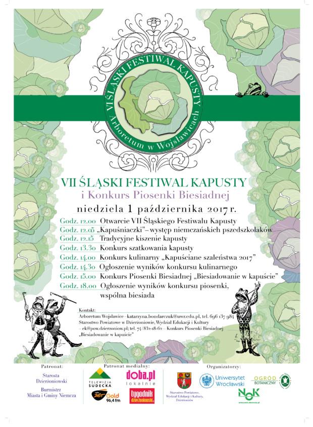 """VII ŚLĄSKI FESTIWAL KAPUSTY i Konkurs Piosenki Biesiadnej """"Biesiadowanie w kapuście"""""""