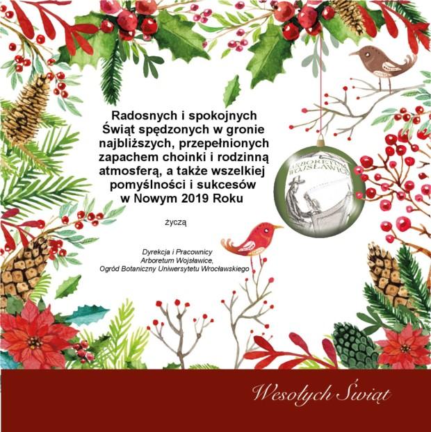 Życzenia Świąteczne oraz Noworoczne