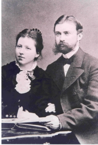 Bertha i Fritz von Oheimb po ślubie w 1880 r.