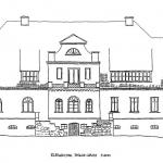 Pałac w Wojsławicach na pocz.XX w. Rys. K. Eysymontt na podst. planów z 1953 r. (1)