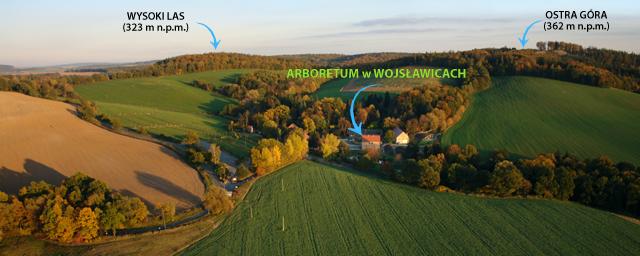 Panorama z mapą